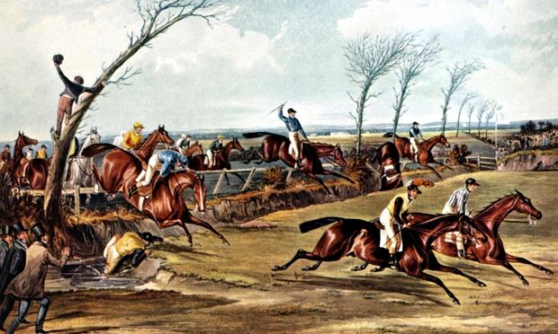The 1839 Grand National in progress