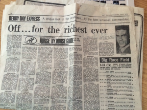 Daily Express June 2nd 1976 Dettori Pictured